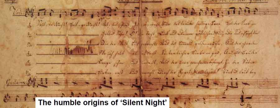 the humble origins of Silent Night web